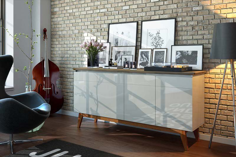 Conjunto Sala de Estar Buffet + Aparador + Cristaleira - Imcal Móveis