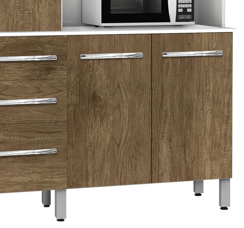 Armário de Cozinha Flórida 1.2 Branco com Ferrara - CSA Móveis