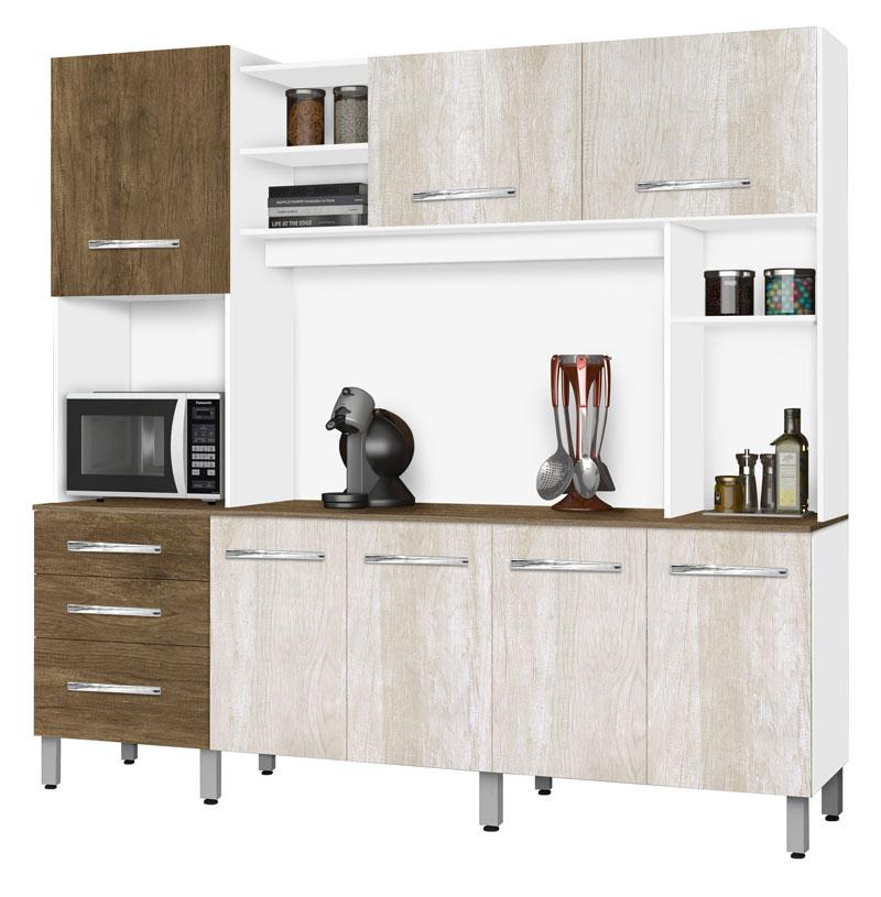Armário de Cozinha Holanda 2.2 Ravena com Ferrara - CSA Móveis