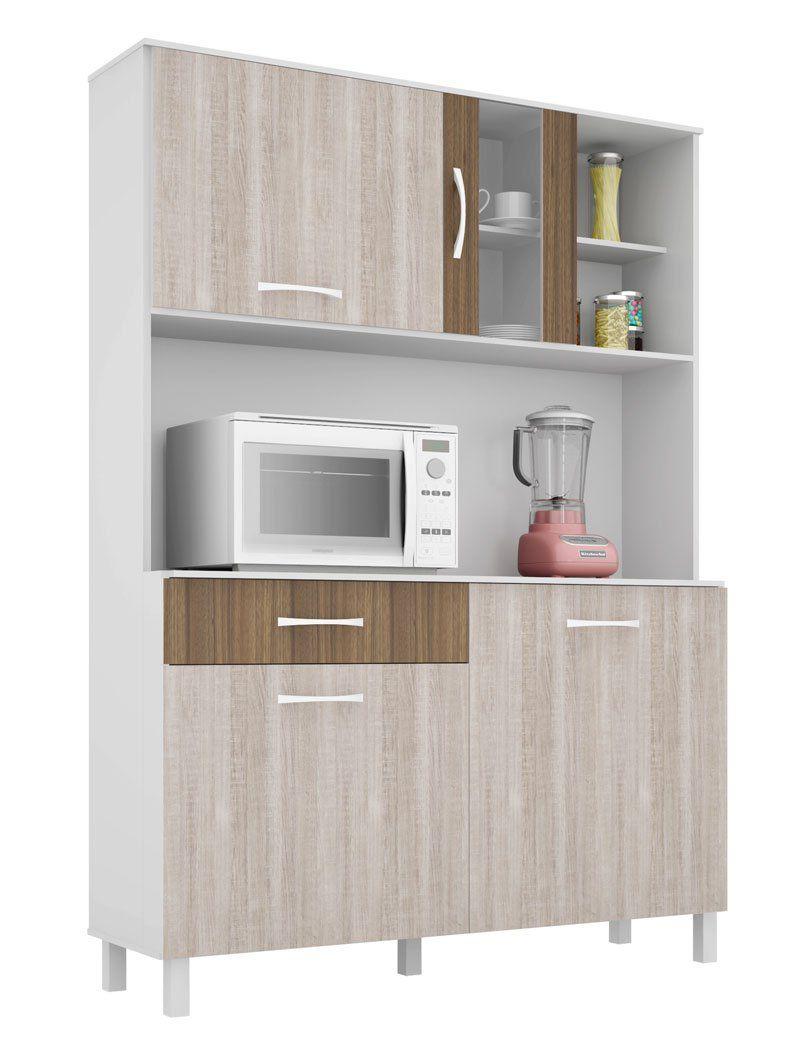 Cozinha Viena Plus 1.2 Branco com Elmo e Montana - Madine