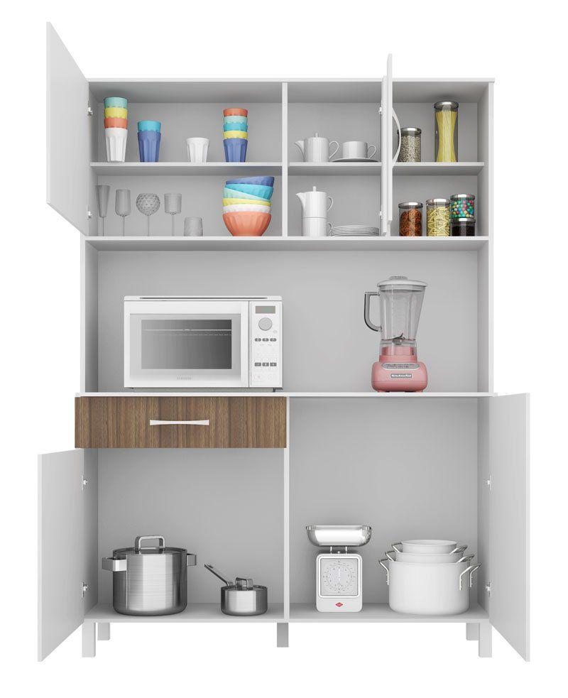 Cozinha Viena Plus 1.2 Branco com Montana - Madine