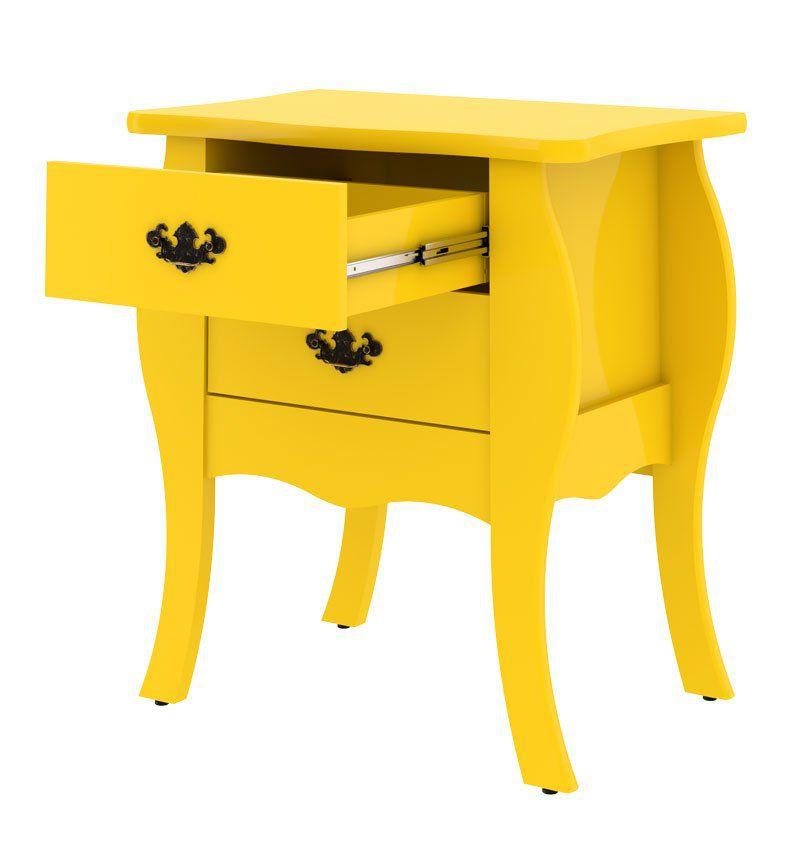 Criado-Mudo Bombe Premier Amarelo - Patrimar Móveis