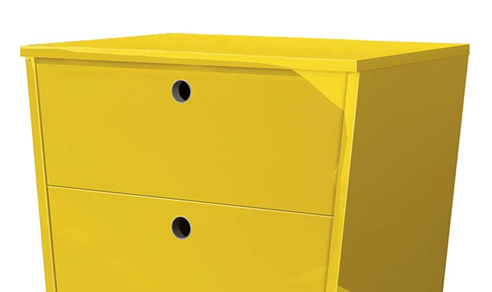 Mesa de Cabeceira Dream Amarelo - EDN Móveis