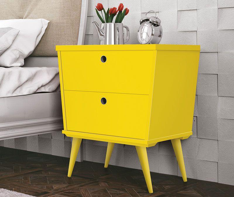 Criado-Mudo Dream Amarelo - Edn Móveis