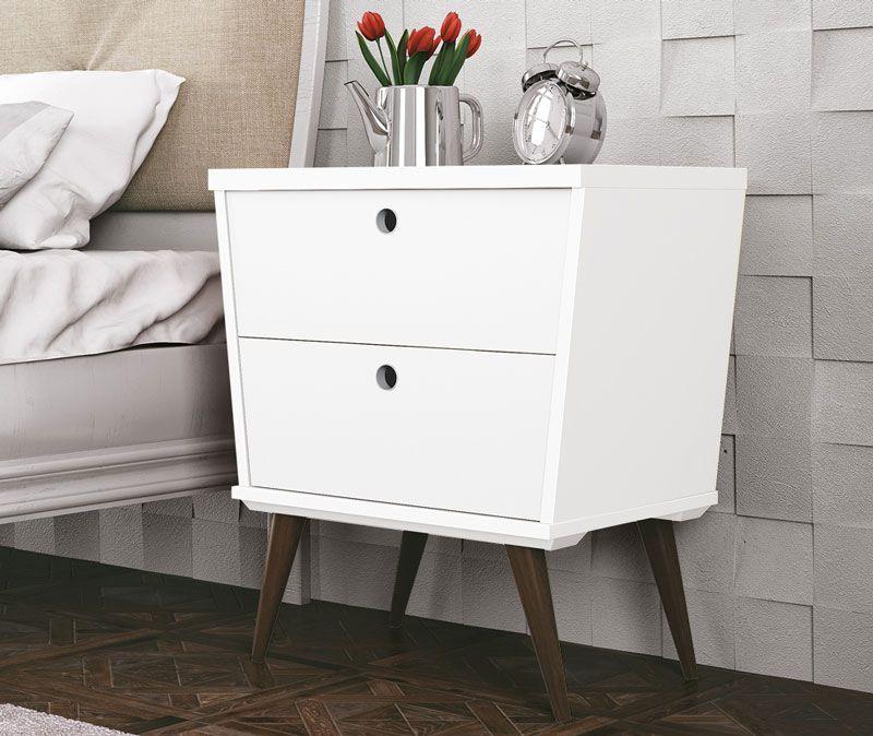 Mesa de Cabeceira Dream Branco - EDN Móveis