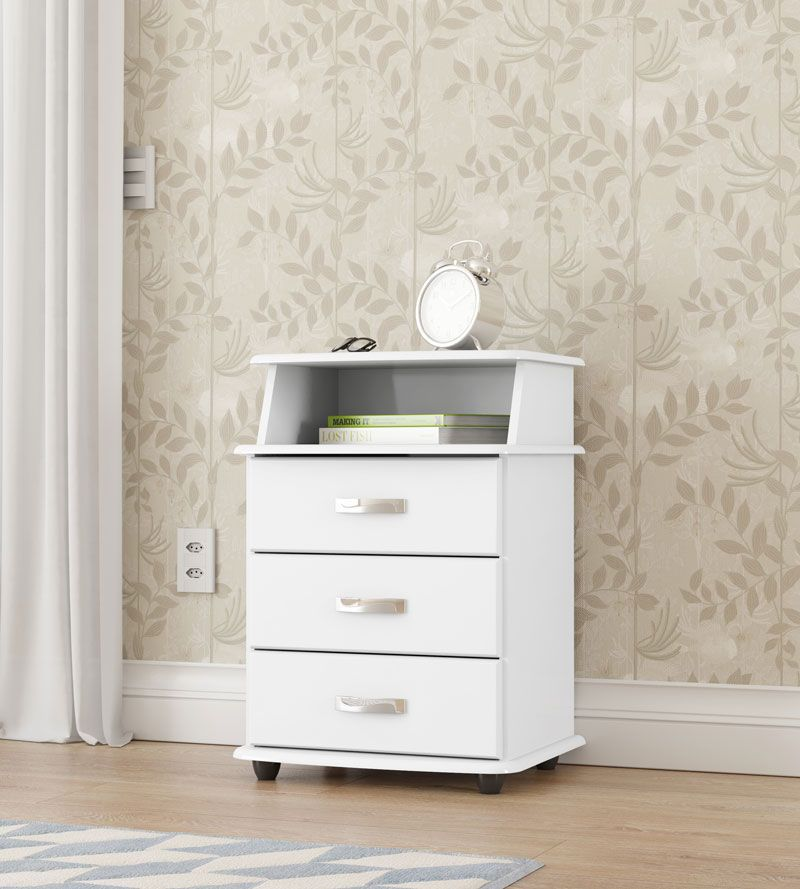 Criado Mudo Luxo Branco - EJ Móveis