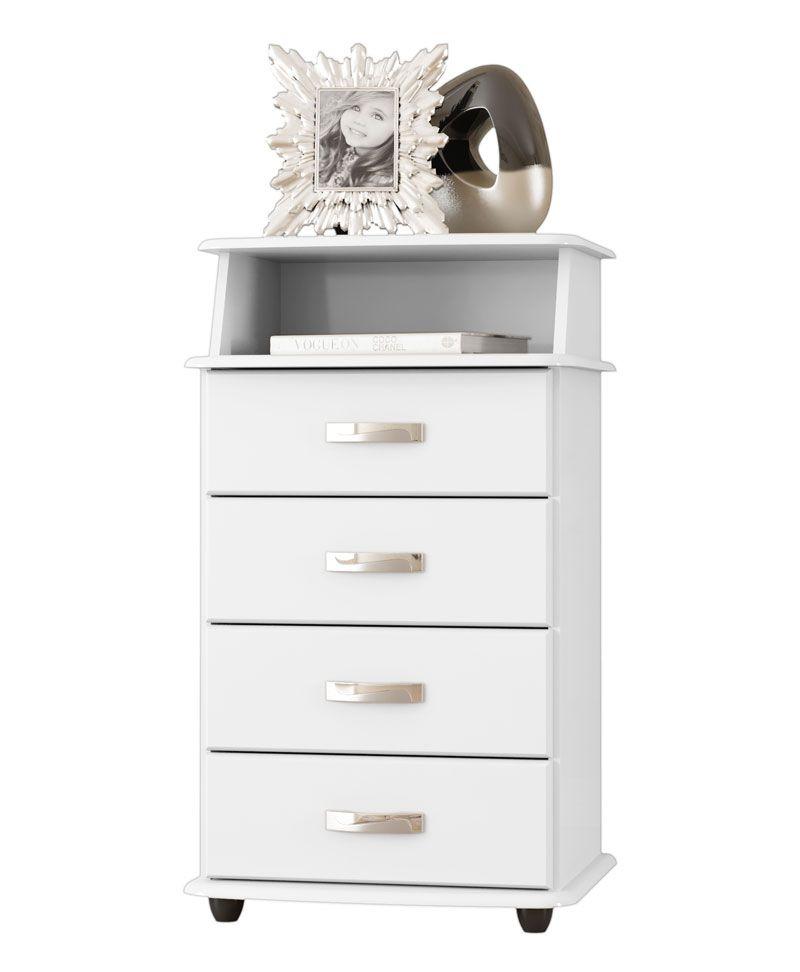 Criado Mudo Luxo II Branco - EJ Móveis
