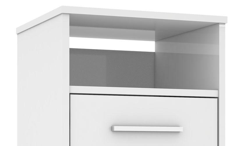Criado-Mudo Monet Branco - Mirarack  - MoveisAqui - Loja de móveis online!