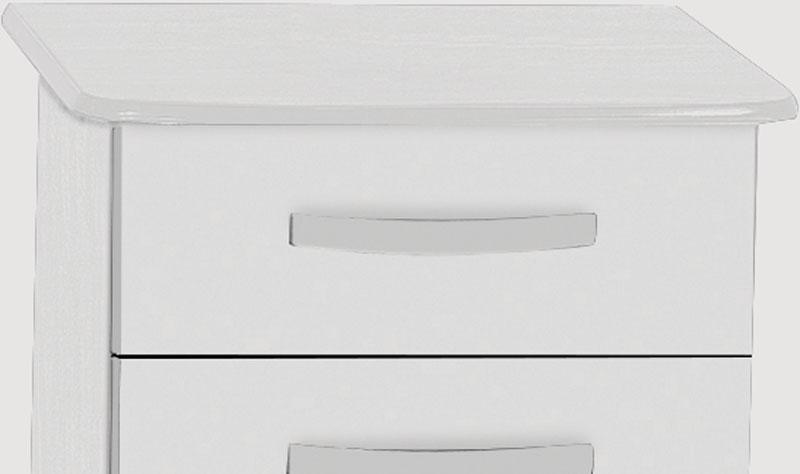 Criado-Mudo Rubi Branco - Móveis Primus