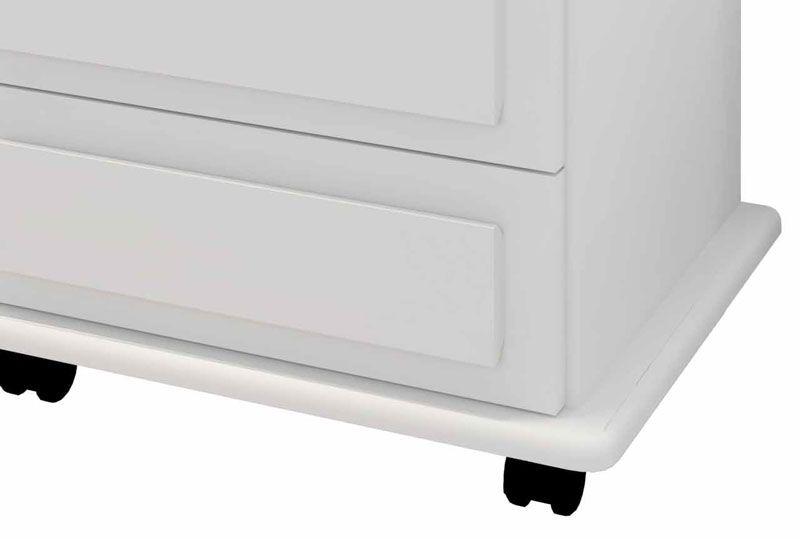 Criado-Mudo Turim 3 Gavetas Branco - RV Móveis