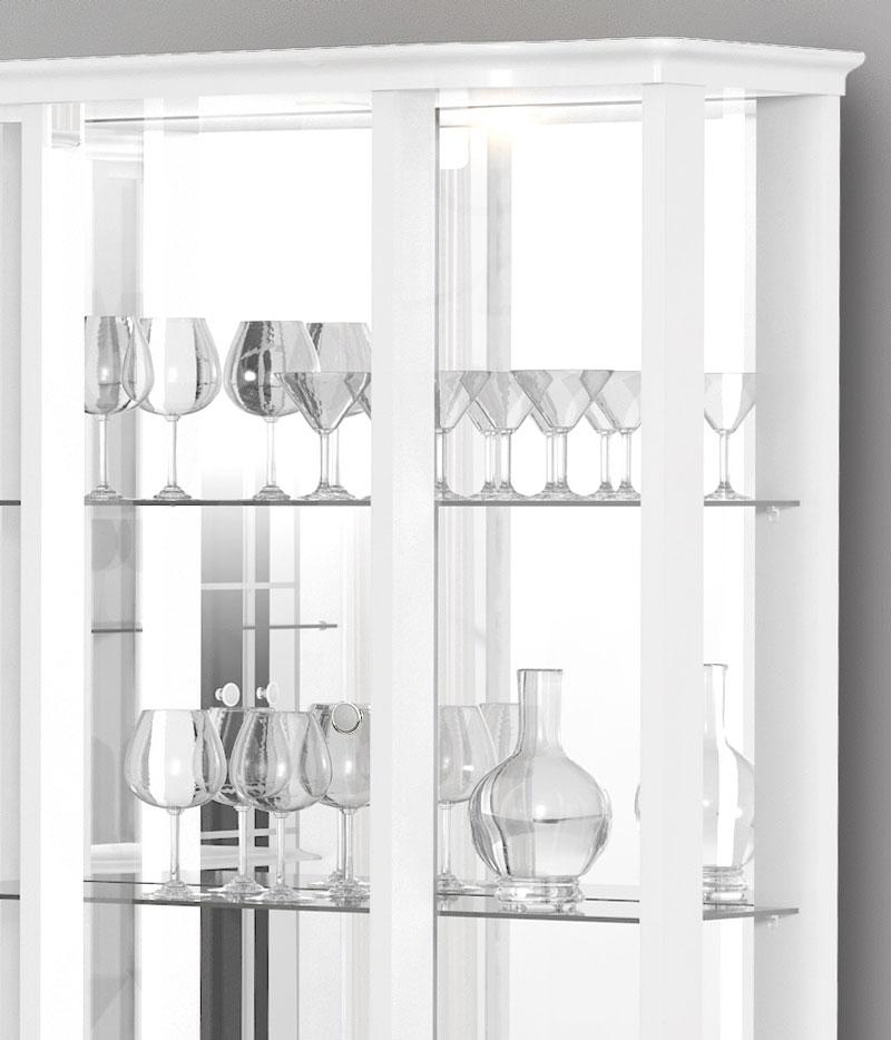 Cristaleira Allure Branco - Imcal