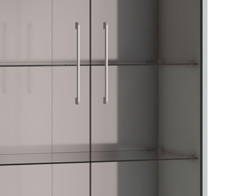 Cristaleira Classic 1G Branco Acetinado - Imcal Móveis