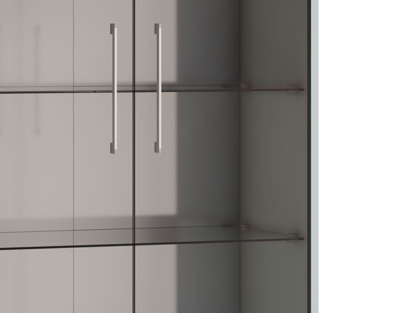 Cristaleira Classic AD Branco Acetinado - Imcal Móveis