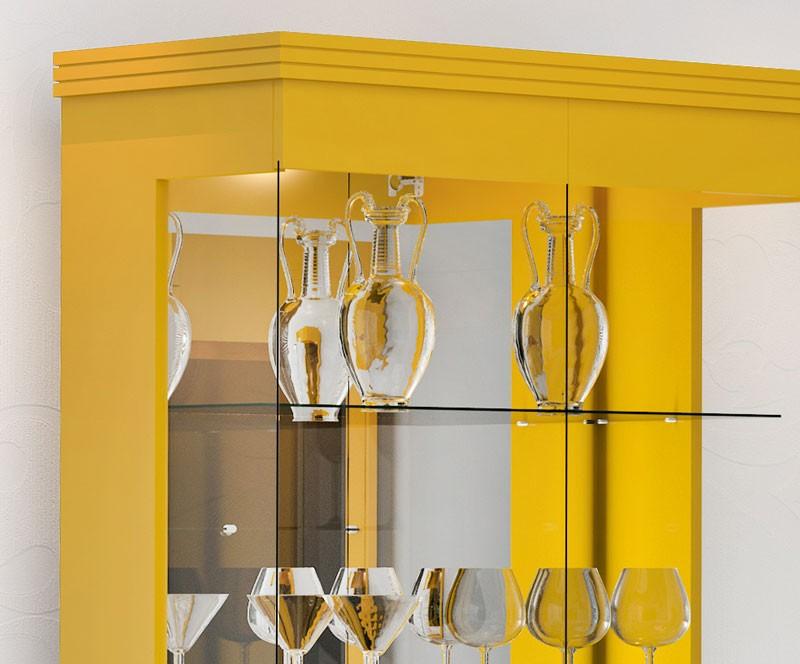 Cristaleira Cristal Amarelo - Imcal  - MoveisAqui - Loja de móveis online!