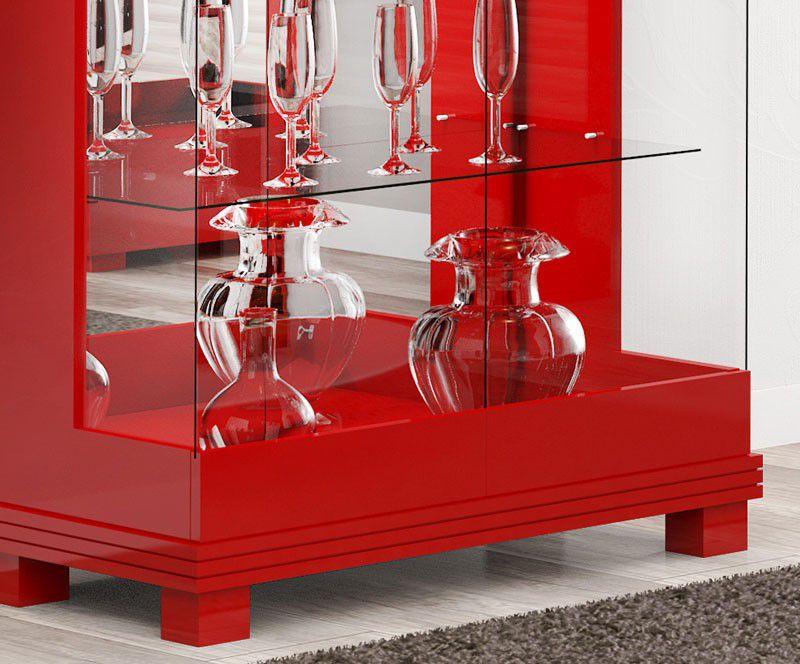 Cristaleira Cristal Imcal Vermelho