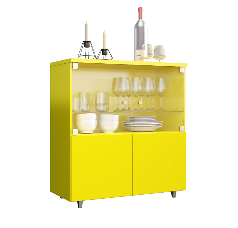 Cristaleira JB 4000 Amarelo - JB Bechara
