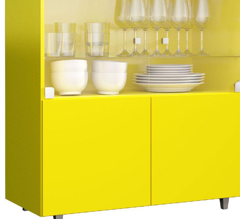 Cristaleira JB 4000 Amarelo - JB Bechara  - MoveisAqui - Loja de móveis online!
