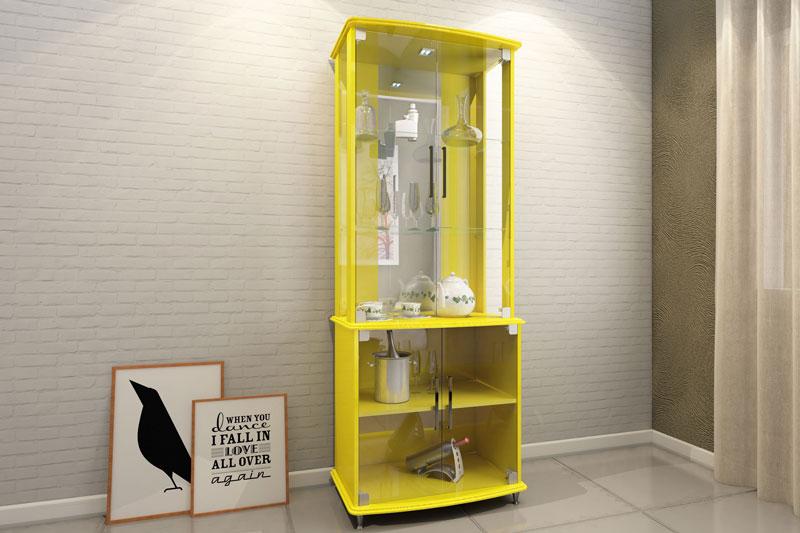 Cristaleira JB 4070 Amarelo - JB Bechara