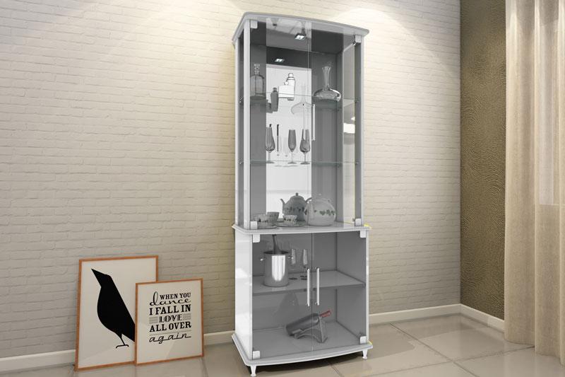 Cristaleira JB 4070 Branco - JB Bechara  - MoveisAqui - Loja de móveis online!