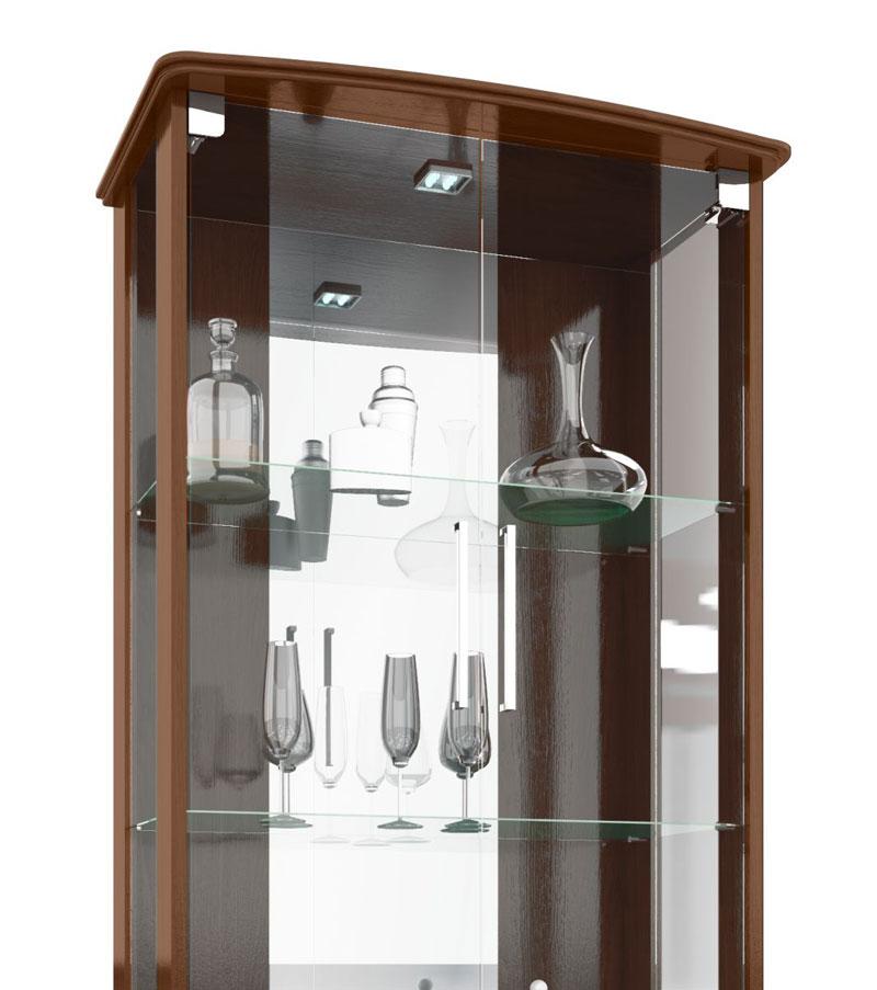 Cristaleira JB 4070 Castanho - JB Bechara  - MoveisAqui - Loja de móveis online!