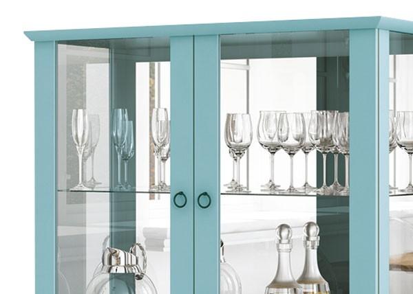 Cristaleira Luís XV Acqua - Edn Móveis