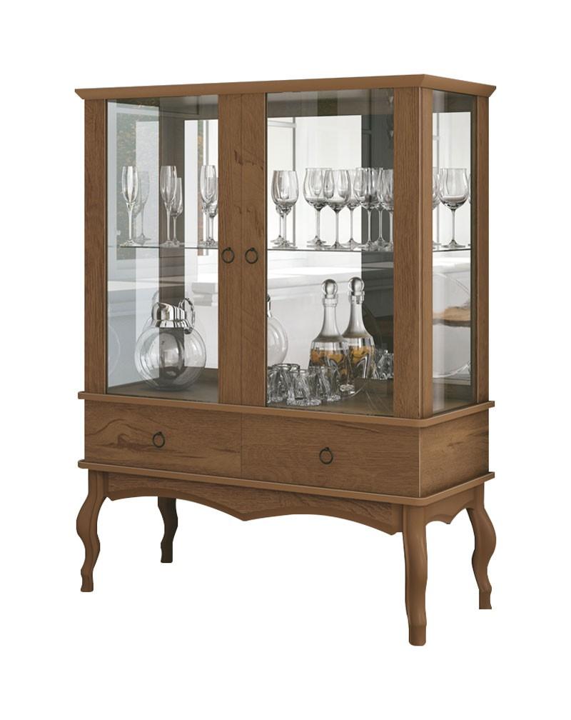 Cristaleira Luis XV Naturale - Edn Moveis