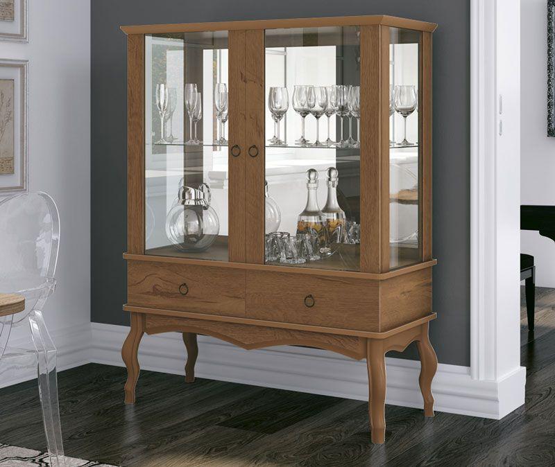 Cristaleira Luís XV Naturale - Edn Móveis