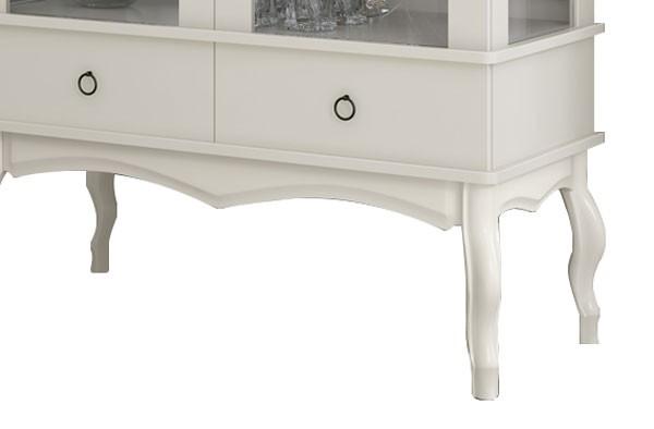 Cristaleira Luis XV Off White - Edn Moveis