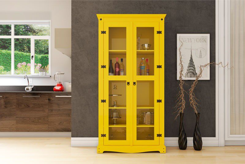 Cristaleira New York Amarelo - RV Móveis