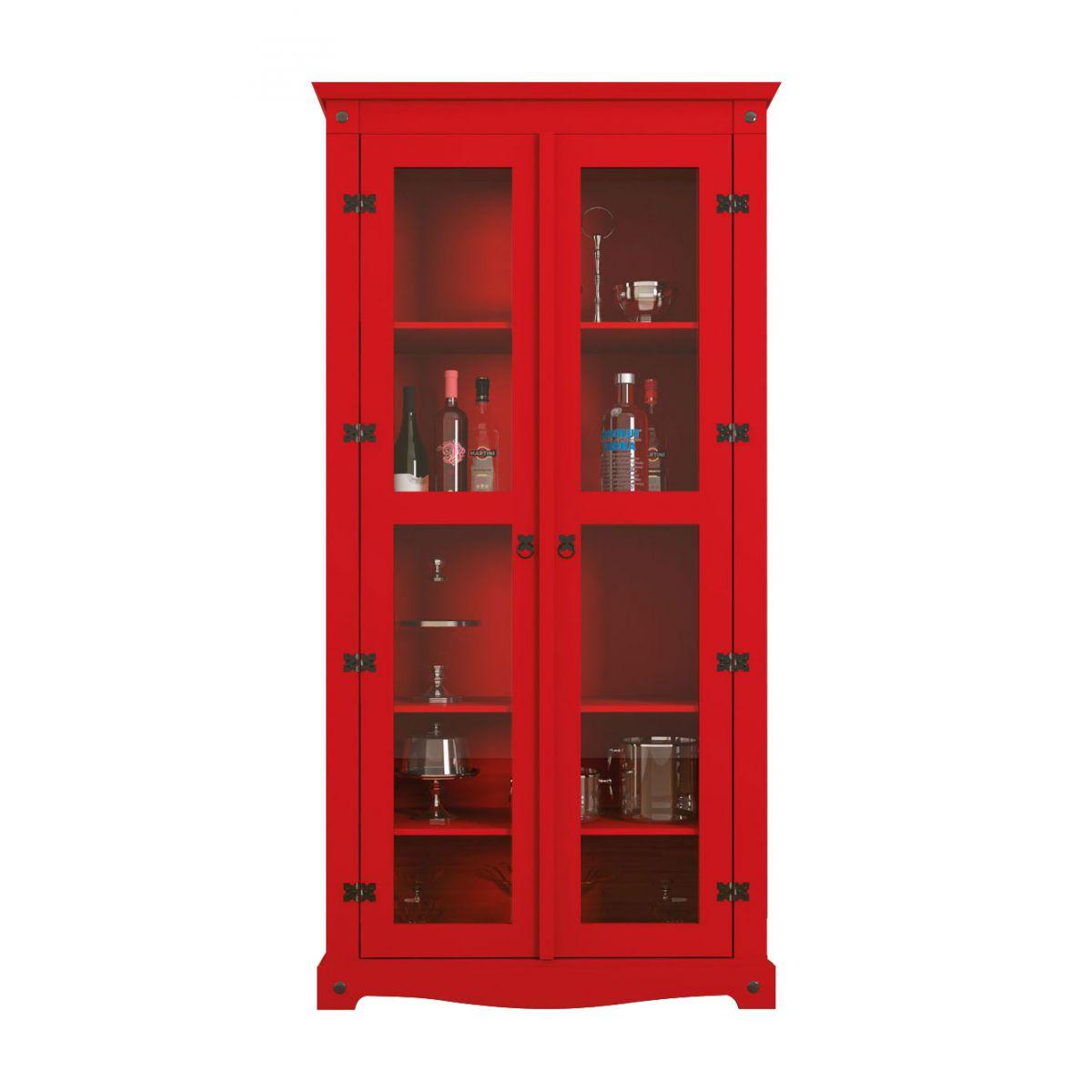 Cristaleira New York Vermelho - RV Móveis