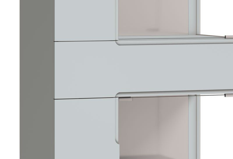 Cristaleira Nuance AD Branco Acetinado - Imcal Móveis