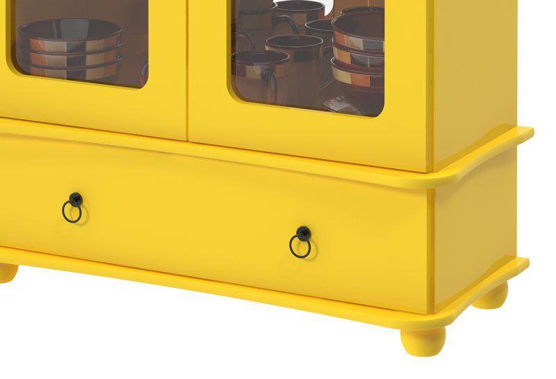 Cristaleira Safira Amarelo - Patrimar Móveis