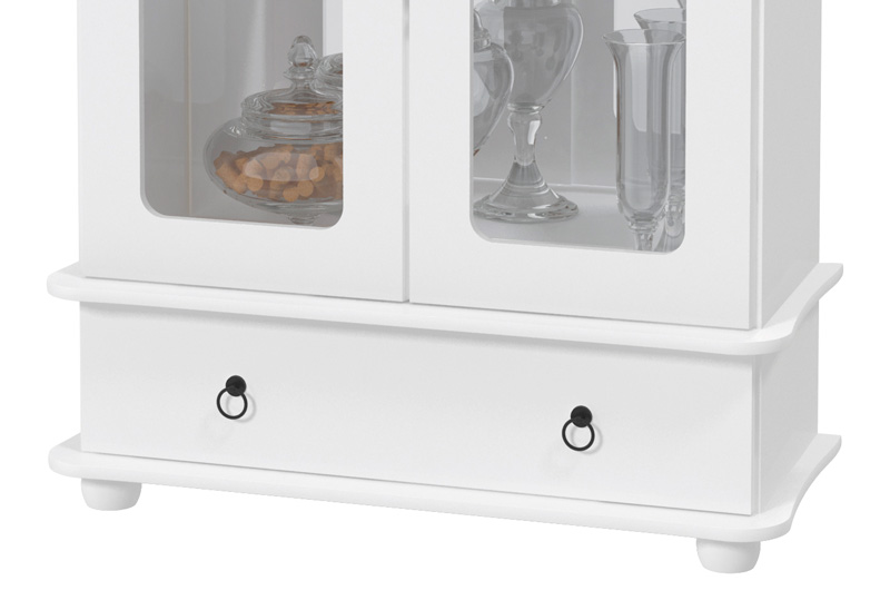Cristaleira Safira Branco - Patrimar Móveis  - MoveisAqui - Loja de móveis online!