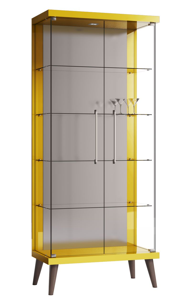 Cristaleira Tifanny Amarelo - Imcal Móveis