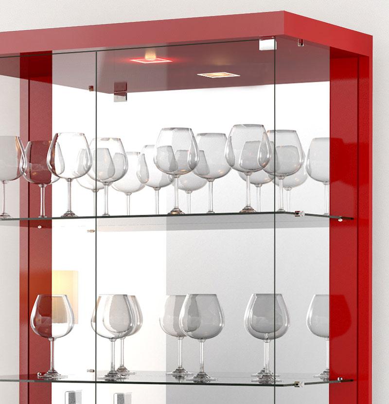 Cristaleira Tifanny Vermelho - Imcal  - MoveisAqui - Loja de móveis online!