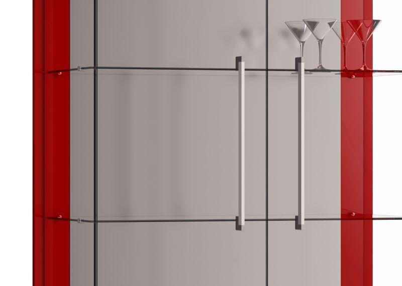 Cristaleira Tifanny Vermelho - Imcal Móveis