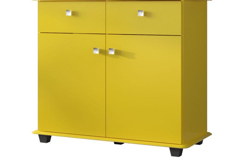 Cristaleira Verona Amarelo - Móveis Bechara