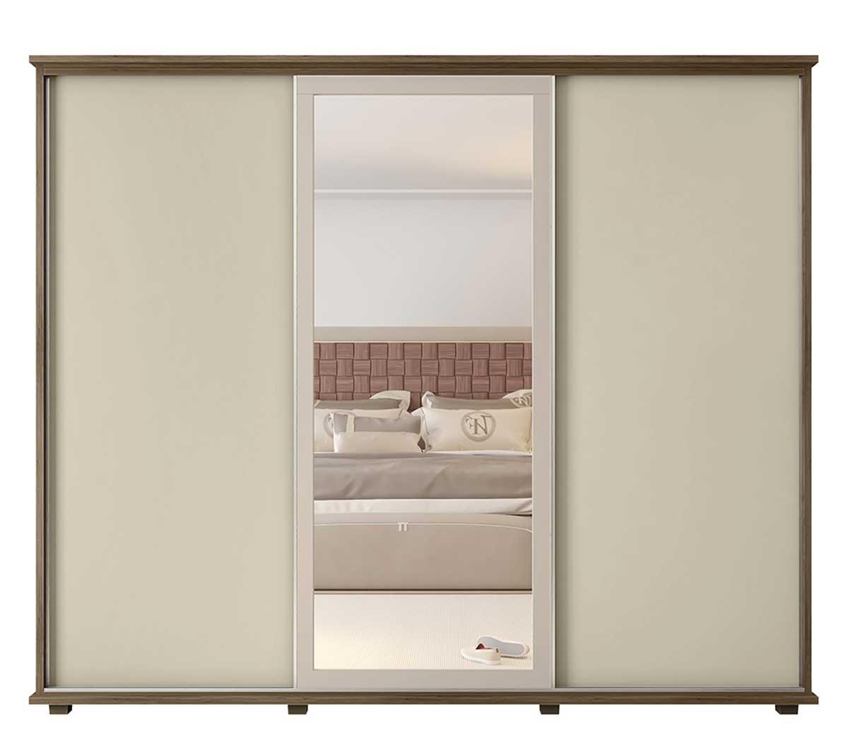 Dormitório Casal Espanha + Grécia Freijó com Off White - RV Móveis