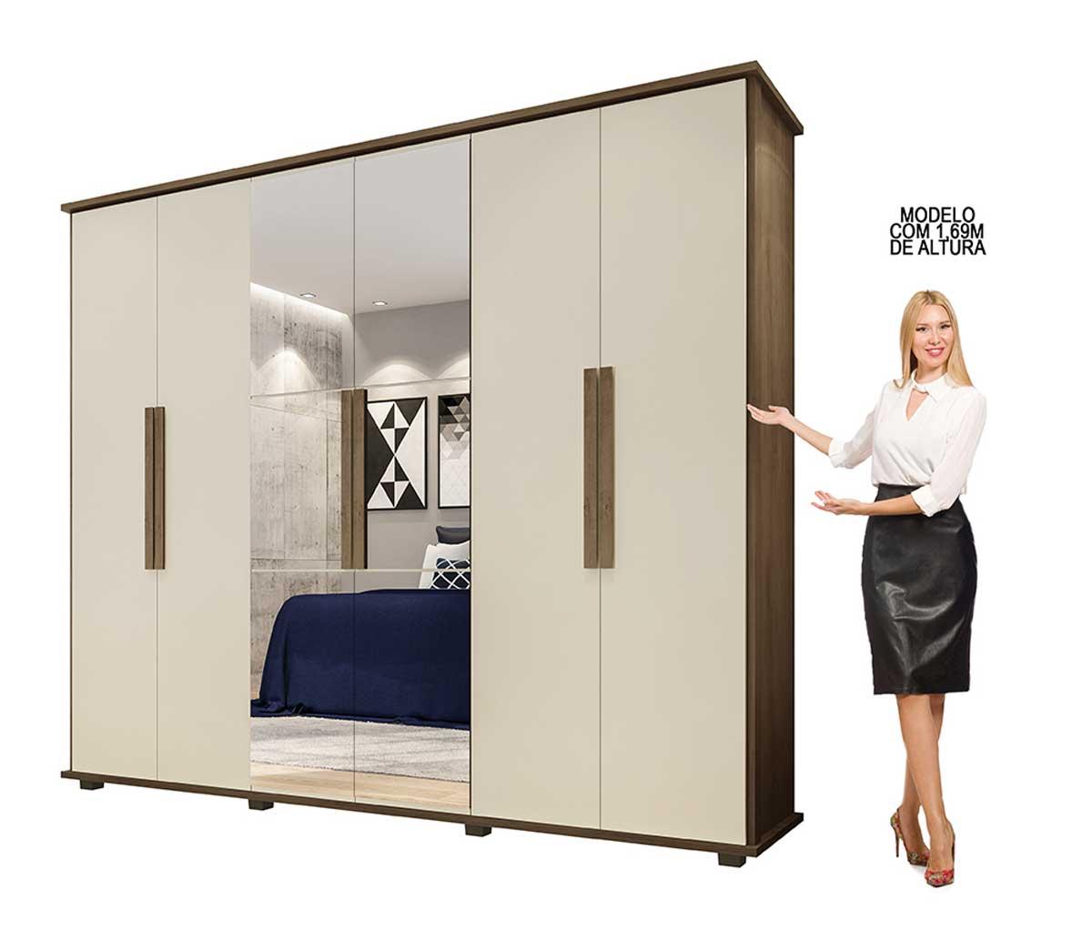 Dormitório Casal Estrela + Munique Freijó com Off White - RV Móveis