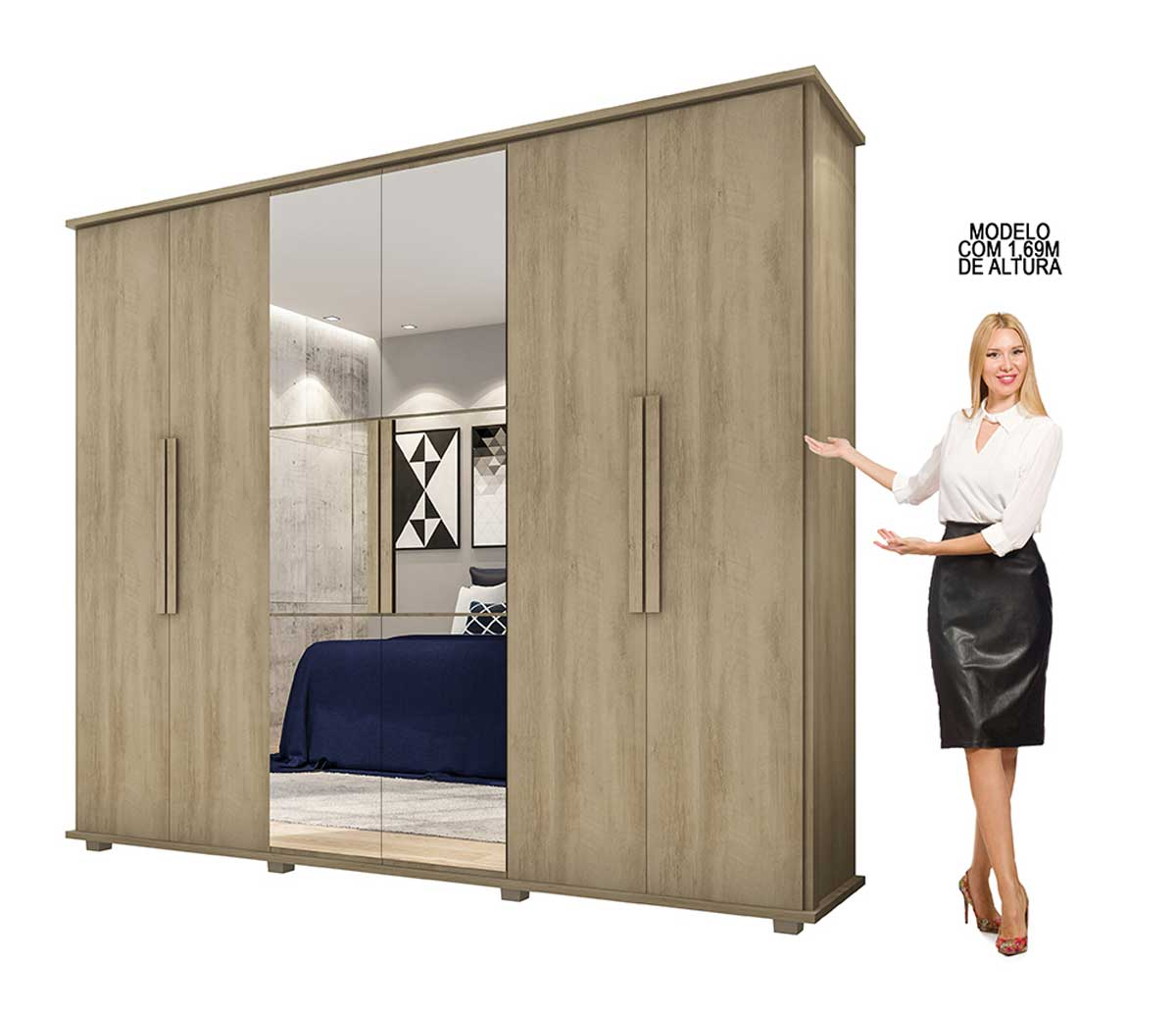 Dormitório Casal Estrela + Roma Niágara - RV Móveis