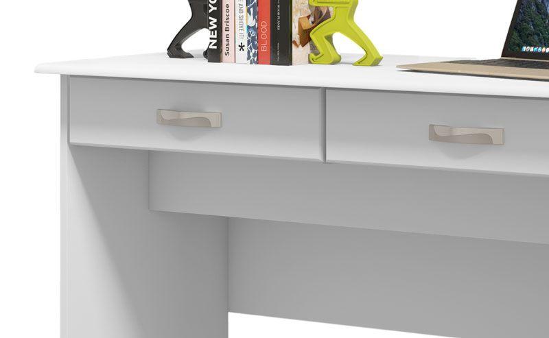 Escrivaninha 2 Gavetas Branco - EJ Móveis