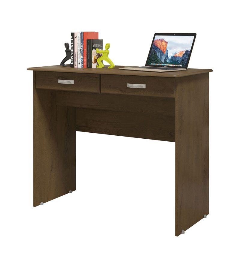 Escrivaninha 2 Gavetas Imbuia - EJ Móveis