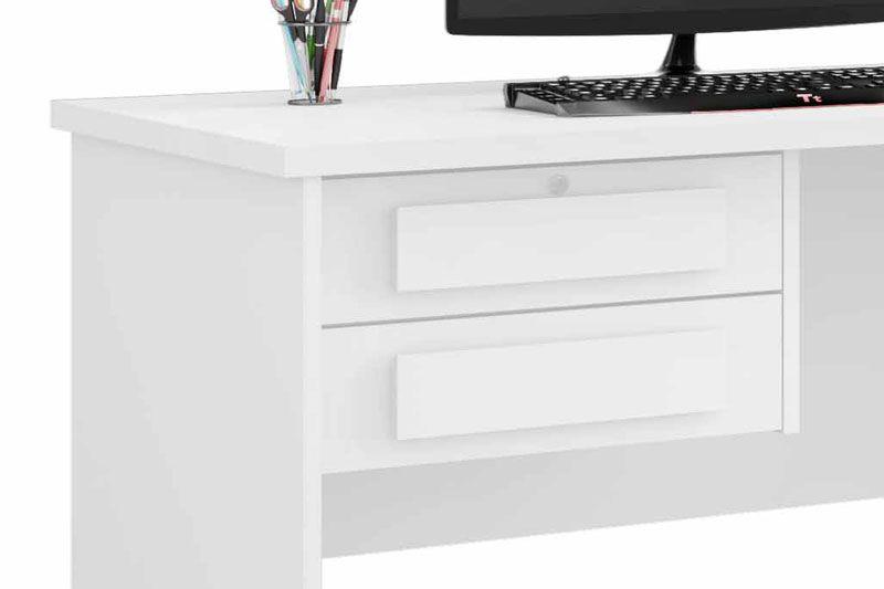 Escrivaninha Mesa para Computador Alemanha Branco - RV Móveis