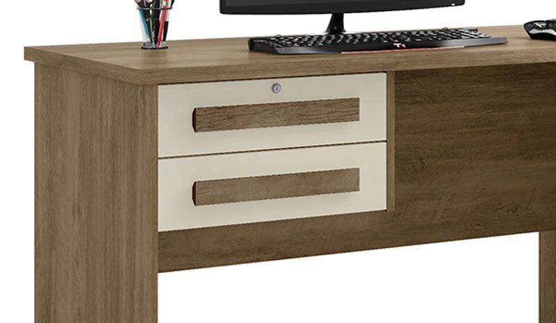 Escrivaninha Mesa para Computador Alemanha Freijó com Off White - RV Móveis