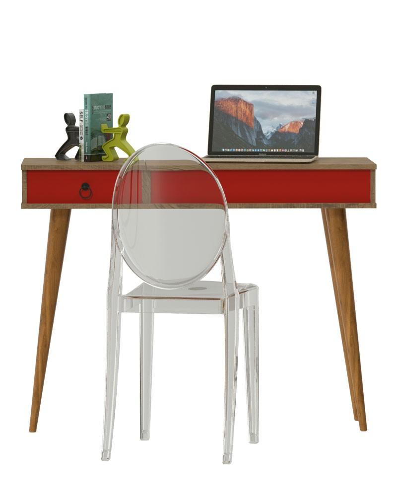 Escrivaninha Multifuncional Demolição Vermelho - Patrimar Móveis