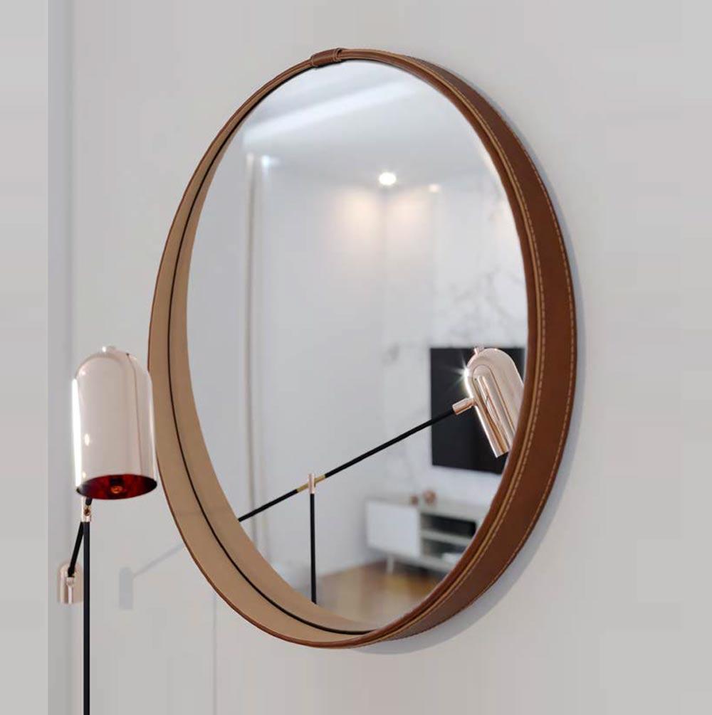 Espelho Redondo Decorativo Aqua - Imcal Móveis