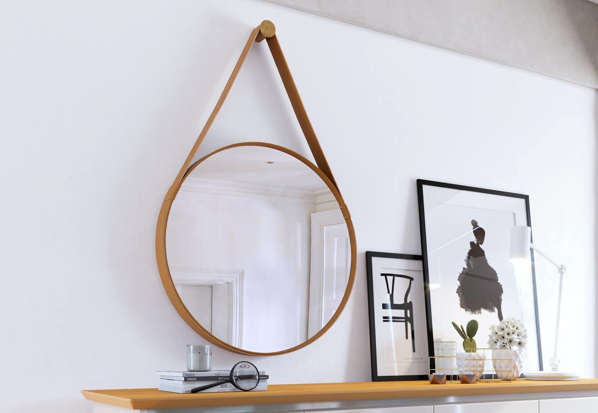 Espelho Redondo Decorativo Aqua Mais - Imcal Móveis