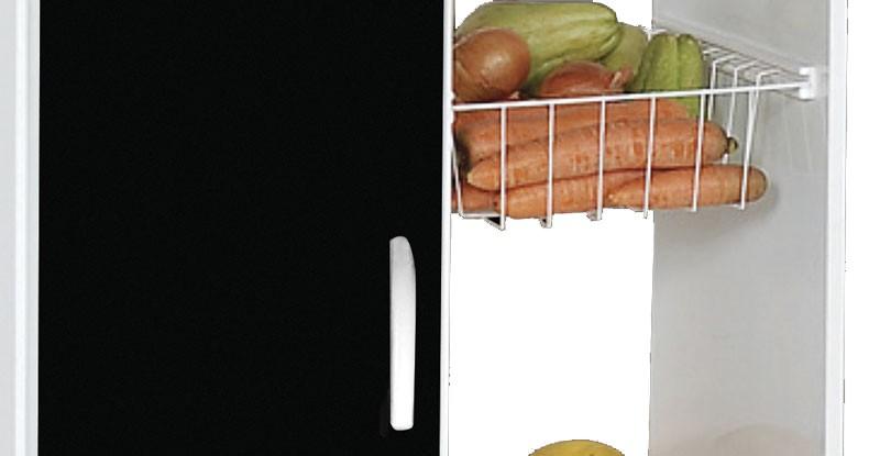 Fruteira Iana Branco com Preto - Móveis Primus