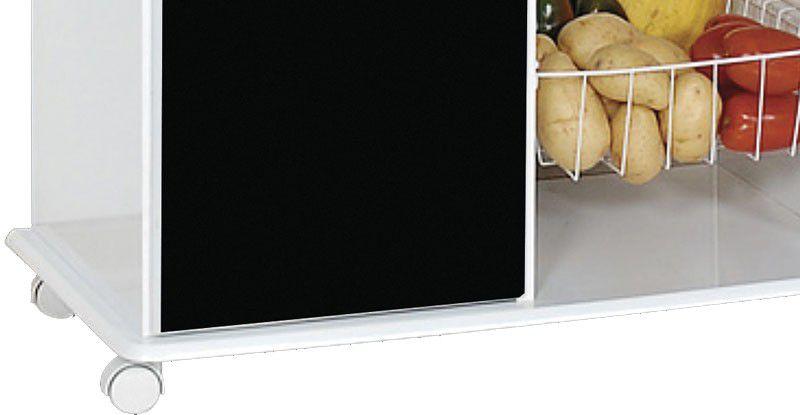 Fruteira Ianá Branco com Preto - Móveis Primus