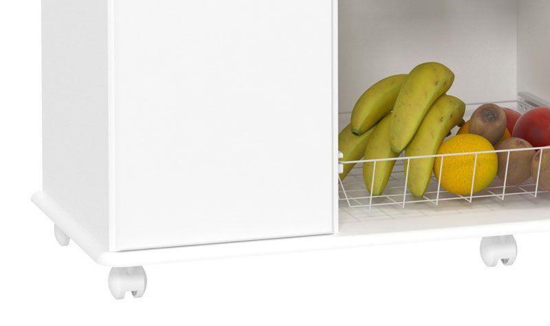 Fruteira Maxi Branco com Mármore - EJ Móveis